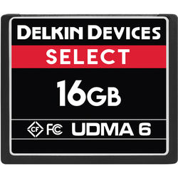 Delkin Devices 16GB Select UDMA 6 CompactFlash Memory Card