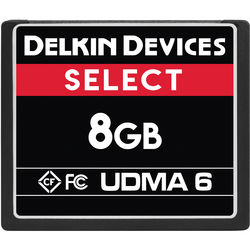 Delkin Devices 8GB Select UDMA 6 CompactFlash Memory Card