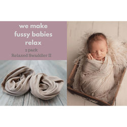 Custom Photo Props Relaxed Swaddler II Newborn Swaddling Assistant (2-Pack, Nude Tone)