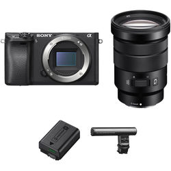 Sony Alpha a6300 Mirrorless Digital Camera with 18-105mm Lens and Video Accessory Kit