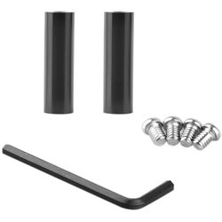 """SmallRig 15mm Rod Pair with 1/4""""-20 Threaded Holes at Both Ends (2"""")"""