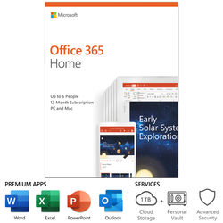 Microsoft Office 365 Home (6-User License / 1-Year Subscription / Product Key Code)