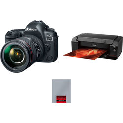 Canon EOS 5D Mark IV with 24-105mm Lens and Inkjet Printer Kit