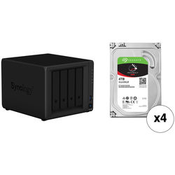 Synology DiskStation 16TB DS918+ 4-Bay NAS Enclosure Kit with Seagate NAS Drives (4
