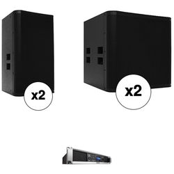 QSC E15 / E18SW System Stereo Tops and Subs with 4-Channel Amplifier