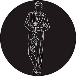 Rosco Groom in Suit B/W Wedding Glass Gobo (B Size)