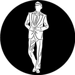 Rosco Groom Silhouette B/W Wedding Glass Gobo (A Size)