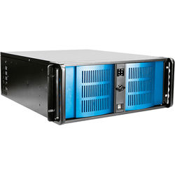 iStarUSA D-400-6 4U Compact Stylish Rackmount Chassis (Blue Bezel)
