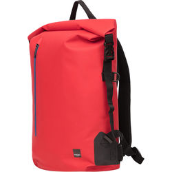 """KNOMO USA 14"""" Cromwell Water-Resistant Roll Top Laptop Backpack (Red)"""