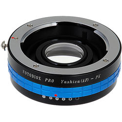 FotodioX Pro Mount Adapter with Aperture Control Dial for Yashica 230-AF Lens to Pentax K-Mount Camera