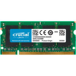 Crucial 2GB 200-Pin SODIMM DDR2 PC2-6400 Memory Module for Macintosh