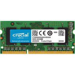 Crucial 2GB 204-Pin SODIMM DDR3 PC3-8500 Memory Module for Macintosh