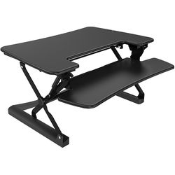 "Loctek LXR36 36"" Two-Tier Sit-Stand Riser (Black)"