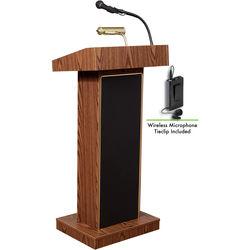 Oklahoma Sound Orator  #800x Sound Lectern (Medium Oak) w/ LWM-6