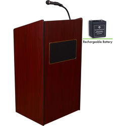 Oklahoma Sound Aristocrat Floor Sound Lectern And Rechargeable Battery (Mahogany)