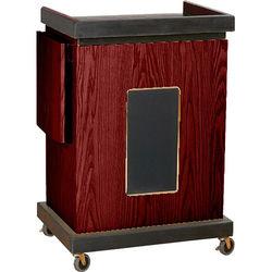 Oklahoma Sound Smart Cart Lectern with Sound System (Mahogany)
