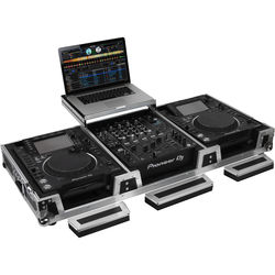 Odyssey Innovative Designs Flight Zone Universal CD/Digital Media Player DJ Coffin with Wheels