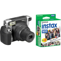 FUJIFILM INSTAX WIDE 300 Instant Film Camera with Twin Pack of Film Kit