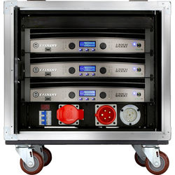 Crown Audio VRack Amplification System Rack on Wheels with Three I-Tech 12000HD Amplifiers