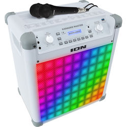 ION Audio Karaoke Master Portable All-In-One PA System with Built-In Light Show