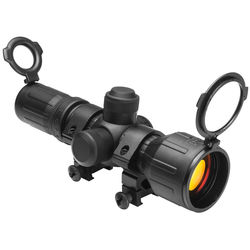 NcSTAR 3-9x42 Rubber-Armored Compact Riflescope (Red/Green Illuminated P4 Sniper Reticle)