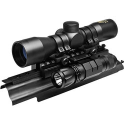 NcSTAR 4x30 Compact Riflescope with Sights N' Lights AK Combo