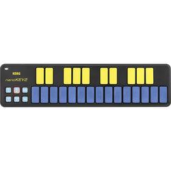 Korg nanoKEY2 Limited Edition Slim-Line USB MIDI Controller (Blue/Yellow)