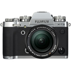 FUJIFILM X-T3 Mirrorless Digital Camera with 18-55mm Lens (Silver)
