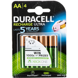 Duracell Rechargeable 2500mAh AA NiMH Batteries (4 Pack)