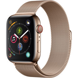 Apple Watch Series 4 (GPS + Cellular, 44mm, Gold Stainless Steel, Gold Milanese Loop)