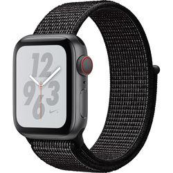 Apple Watch Nike+ Series 4 (GPS + Cellular, 40mm, Space Gray Aluminum, Black Nike Sport Loop)