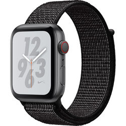 Apple Watch Nike+ Series 4 (GPS + Cellular, 44mm, Space Gray Aluminum, Black Nike Sport Loop)