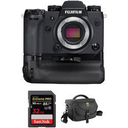 Fujifilm X-H1 Mirrorless Digital Camera Body with Memory Card Kit