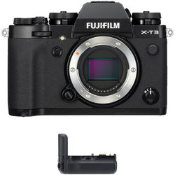 Fujifilm X-T3 Mirrorless Digital Camera Body with Battery Grip Kit (Black)