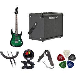 Ibanez GRX70QA GIO Series Electric Guitar Starter Kit (Transparent Emerald Burst)