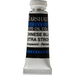 """Marshall Retouching Oil Color Paint/Extra Strong: Chinese Blue - 1/2x2"""" Tube"""
