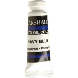 """Marshall Retouching Oil Color Paint: Navy Blue - 1/2x2"""" Tube"""