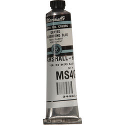 """Marshall Retouching Oil Color Paint: Grayed Background Blue - 3/4x4"""" Tube"""