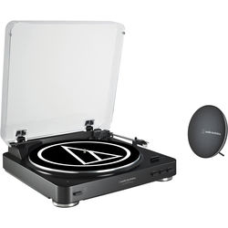 Audio-Technica Consumer AT-LP60BK-BT Turntable with Bluetooth Speaker Bundle (Black)