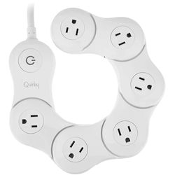 Quirky Pivot Power Flexible 6-Outlet Surge Protector (White)
