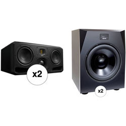 """Adam Professional Audio The Munich Matched 2.2 Speaker System with 2x7"""" 3-Way Monitors and 15.5"""" Subwoofers"""