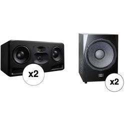 "Adam Professional Audio The Frankfurt Matched 2.2 Speaker System with 2x10"" 3-Way Monitors and 21"" Subwoofers"