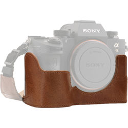 MegaGear Ever Ready Genuine Leather Camera Half Case and Strap for Sony Alpha a7 III,