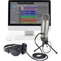 Samson C01U Pro USB Studio Microphone Recording Pack with Headphones and Software