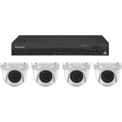 Honeywell HEN04123 4-Channel NVR with 4 HED2PER3 2MP IP Ball Cameras