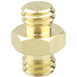 """CAMVATE Double Male Thread Adapter with Hex Nut (3/8""""-16 to 3/8""""-16)"""