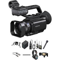 Sony PXW-X70 Video Journalist Kit with Backpack, Trolley, Wireless Mic System & Tripod