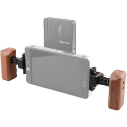 CAMVATE Wooden Handle Kit with Plates for SmallHD 700 Series