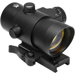 NcSTAR 1x40 Red Dot Sight with Red Laser & Quick Release Mount