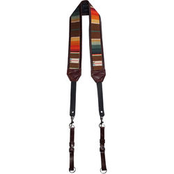 Heavy Leather NYC Sunset Classic Camera Strap (Multi-Colored)